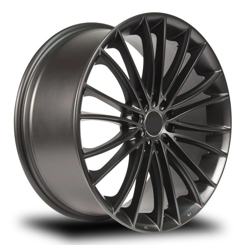 "bR 18"" Alloy Wheel Replica 18x8 5x120 Black Machined"