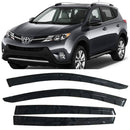 Window Visor Deflector Rain Guard 2013-2018 Toyota RAV4 Dark Smoke