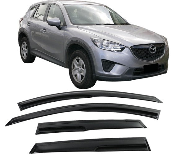 Window Visor Deflector Rain Guard 2013-2016 Mazda CX-5 Mugen Style Dark Smoke