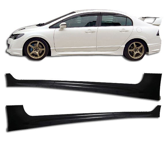 Side Skirt 2006-2011 Honca Civic 4 door Mugen RR Style