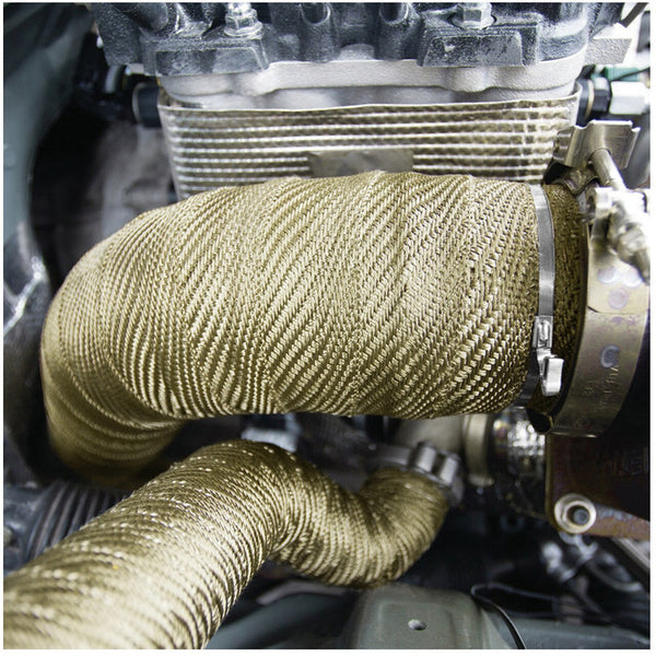 "2"" 50Ft Exhaust Header Fiberglass Heat Wrap Tape+6 Ties Kit"