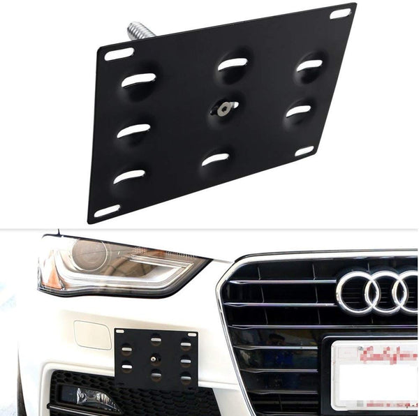 bR License Plate Mounting Kit License Plate re-locator for Fit for 2009-2015 Audi A4/S4 (B8 model), 2008-2015 Audi A5/S5/RS5 and 2013-2015 Audi A7/S7/RS7