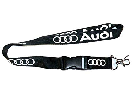 Audi Lanyard (Black with white logo)