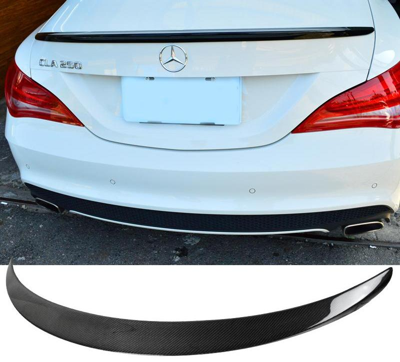 Trunk Spoiler AMG Style Fits 2014-2018 Mercedes CLA W117 Sedan Real Carbon Fiber