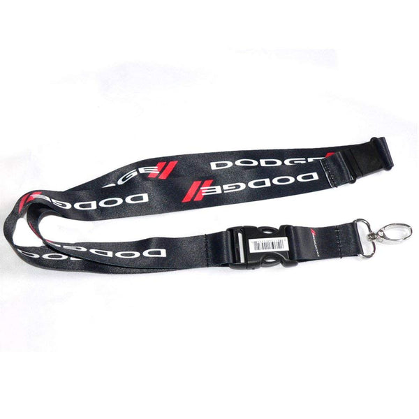 Dodge Lanyard (Black with white and red logo)