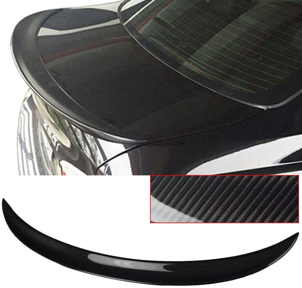 Trunk Spoiler Fits 2006-2011 BMW 3 Series E90 Performance Style Carbon Fiber CF Rear Tail Lip Deck Boot Wing