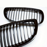 2010-2013 BMW 3-Series Coupe Convertible E92 E93 M3 Kidney Grill Grille Glossy Black/ Pair