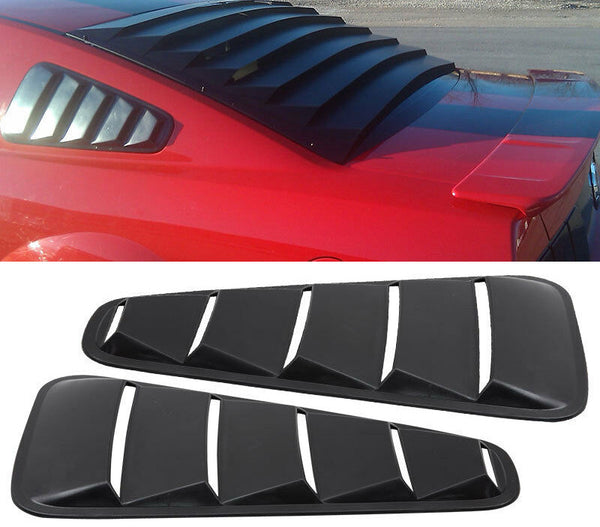 Window Louver Unpainted Black 2005-2009 Ford Mustang OE Style