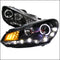 R8 STYLE LED PROJECTOR HEADLIGHTS FOR 09-12 VOLKSWAGEN GOLF