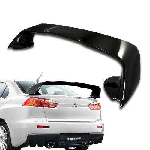 Spoiler OEM Style EVO Wing Mitsubishi 2008-2017 Lancer Evo X Finished Painted Glossy Black/Unpainted Black