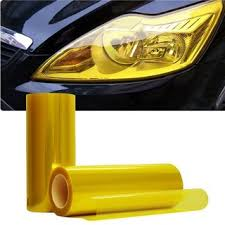 Roll Headlight Tail light Tint Vinyl Film Tail Light Overlays-JDM Yellow 12 inch x 48 inch ( 30cm x 120 cm)