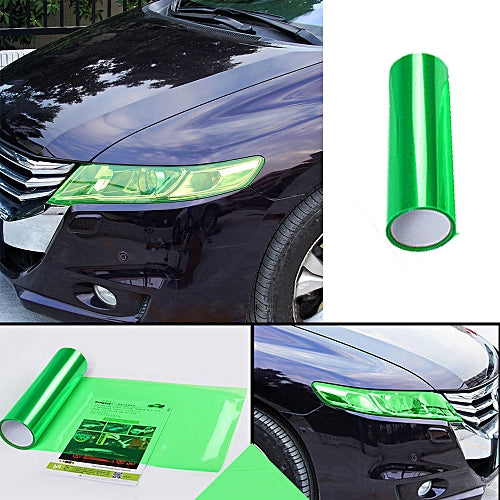 Roll Headlight Tail light Tint Vinyl Film Tail Light Overlays- GREEN 12 inch x 48 inch ( 30cm x 120 cm)