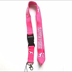 Love Pink Lanyard (Pink with White logo)