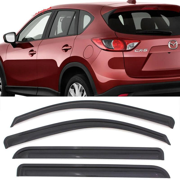 Window Visor Deflector Rain Guard 2013-2016 Mazda CX-5 Dark Smoke