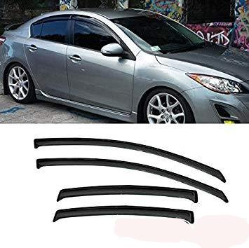 Window Visor Deflector Rain Guard 2004-2009 Mazda 3 Sedan 4door