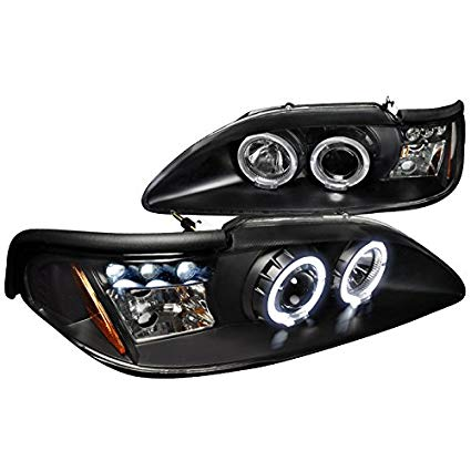 DUAL HALO LED PROJECTOR HEADLIGHTS 1994-1998 FORD MUSTANG