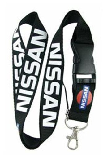 Nissan Lanyard (Black with white and blue and red logo)