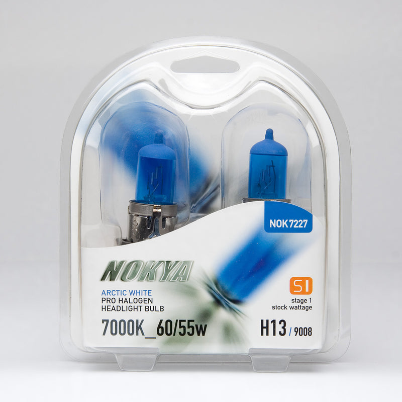 Nokya Arctic White H13/9008 Light Bulbs 7000K 60/55W (Stage 1)