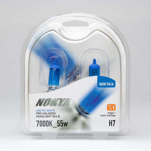 Nokya Arctic White H7 Light Bulbs 7000K 55W (Stage 1)