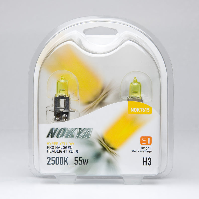 Nokya Hyper Yellow H3 Light Bulbs 2500K 55W (Stage 1)