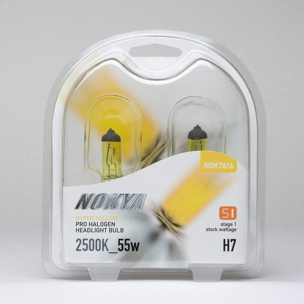 Nokya Hyper Yellow H7 Light Bulbs 2500K 55W (Stage 1)