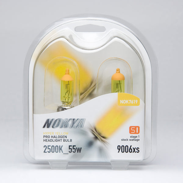 Nokya Hyper Yellow 9006xs Light Bulbs 2500K 55W (Stage 1)