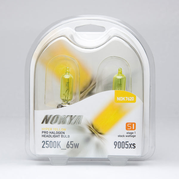 Nokya Hyper Yellow 9005xs Light Bulbs 2500K 55W (Stage 1)