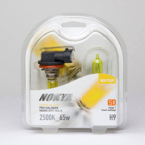 Nokya Hyper Yellow H9 Light Bulbs 2500K 65W (Stage 1)