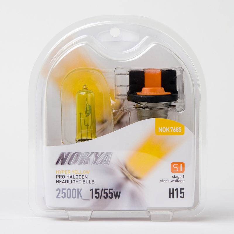 Nokya Hyper Yellow H15 Light Bulbs 2500K 15/55W (Stage 1)