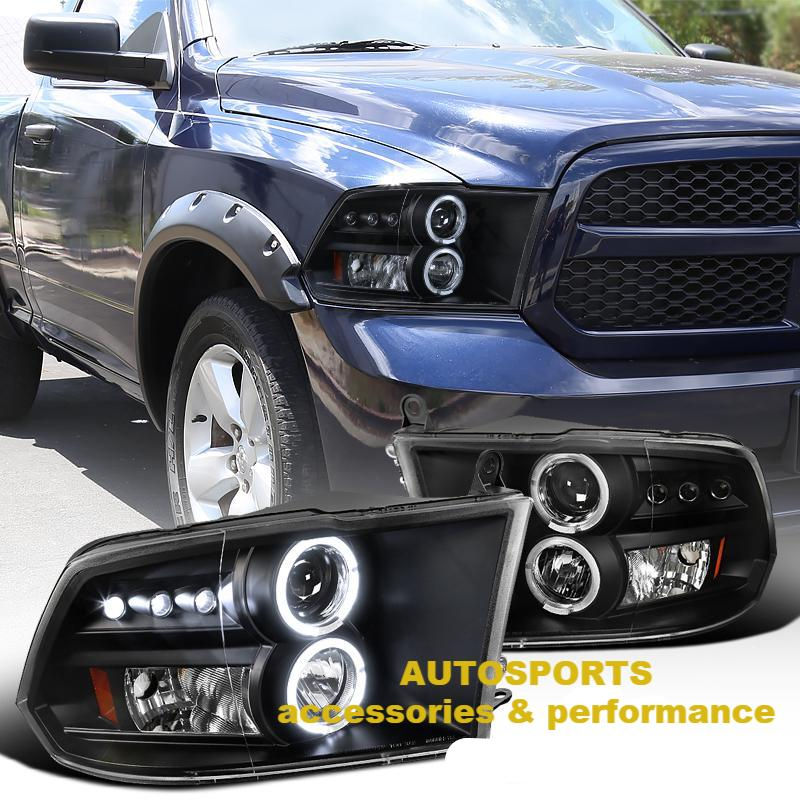 Halo Projector HEADLIGHTS 2009-2016 RAM 1500 2500 3500 / Pair