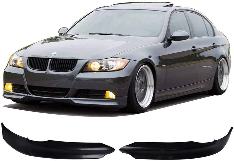 Front Bumper Lip 2005-2008 E90 328 325 335 3 Series Sedan Except M3 And Mtech Bumper OE Style PP Add-On Bodykit Splitter