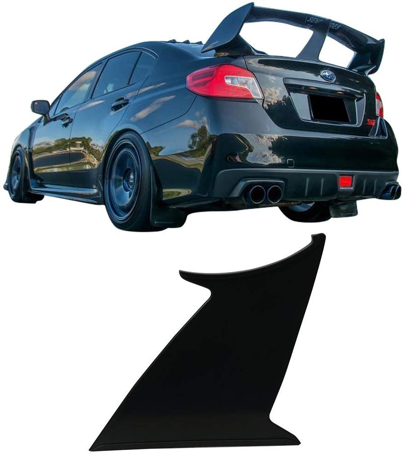1PC Wing Stabilizer Fits 2015-2019 Subaru WRX STI | ABS Unpainted Trunk Boot Lip Spoiler Wing & 3M Tape Add On