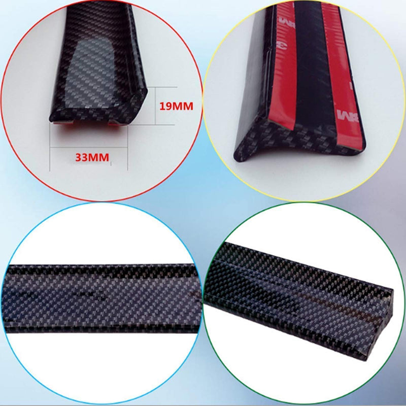 Universal Fit Trunk Spoiler Carbon Fiber Print Trunk Spoiler Lip Kit Length 150cm