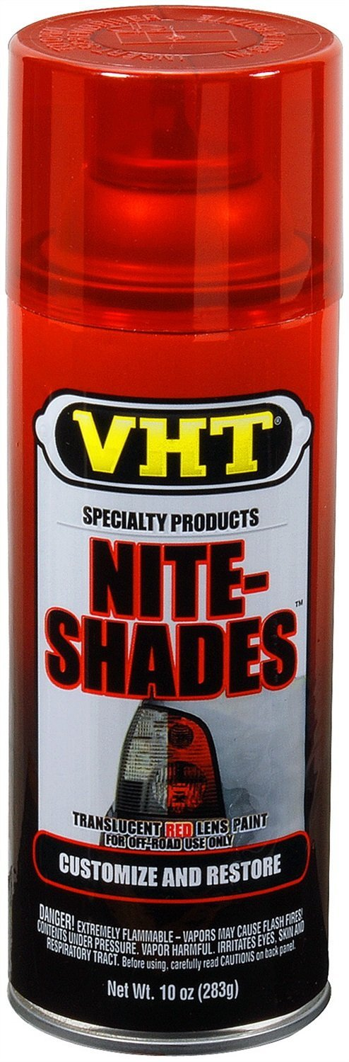 VHT Nite-Shade Lens Cover Tint Translucent Red Paint Can SP888- 10 oz.