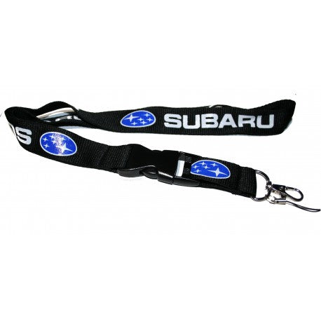 Subaru Lanyard (Black with white logo)