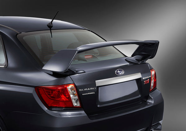 STi Style Trunk Spoiler Wing (ABS Black) Fits 2015-2019 Subaru STi WRX 4dr Sedan