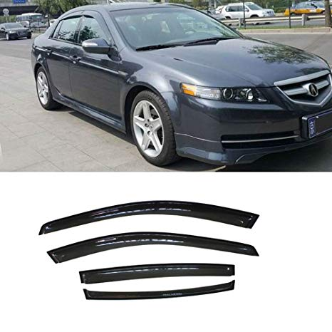 Window Visor Deflector Rain Guard 2004-2008 Acura TL Sedan 4dr Dark Smoke