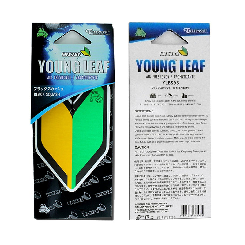 Treefrog Wakaba Young Leaf Japanese Air Freshener Black Squash JDM Car Auto