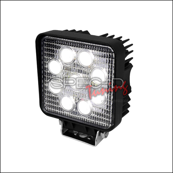 UNIVERSAL 9 LED BLACK WORK LIGHT SQUARE