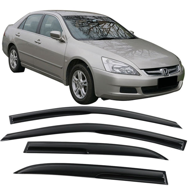 Window Visor Deflector Rain Guard 2003-2007 Honda Accord Sedan 4dr Mugen Style