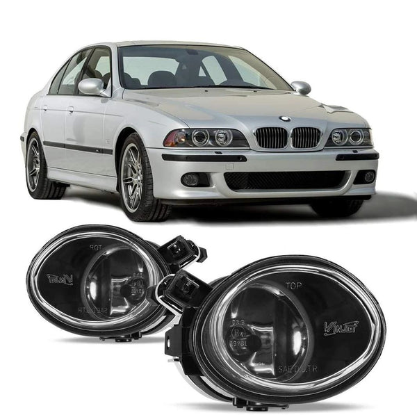 OEM STYLE FOG LIGHTS Fit 2001-2005 3 series E46,  2000-2003 BMW 5 series E39 M5 , CLEAR Lense