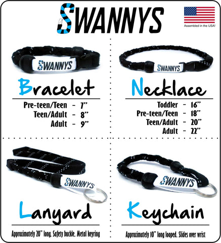 Swannys Size Chart