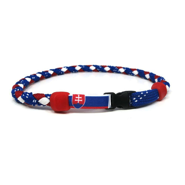 Slovakia Hockey Necklace - Swannys