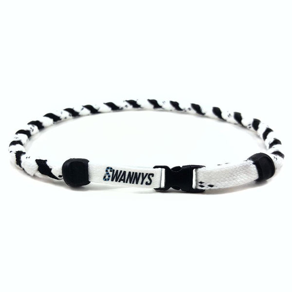 Hockey Lace Necklace - White and Black by Swannys