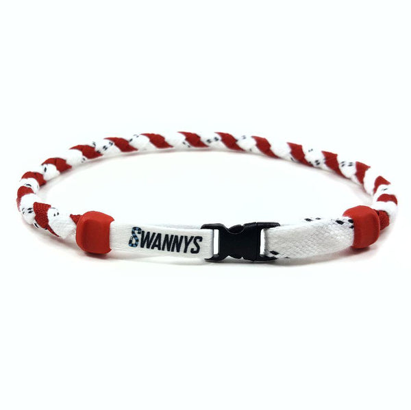 Hockey Lace Necklace - White and Red by Swannys