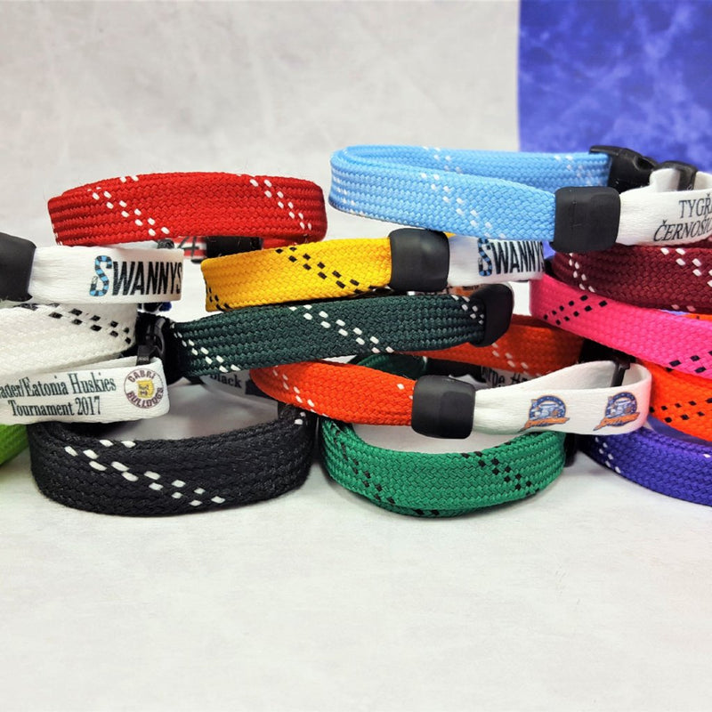 hockey skate lace bracelets