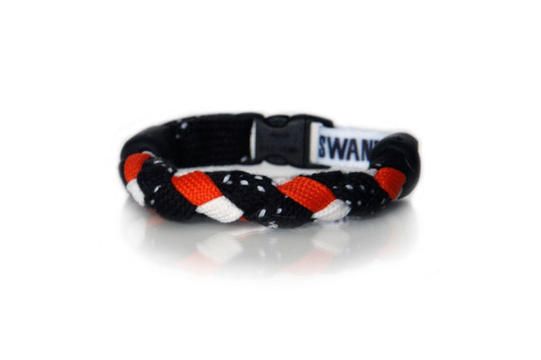 Black, Orange and White Hockey Bracelet - Swannys