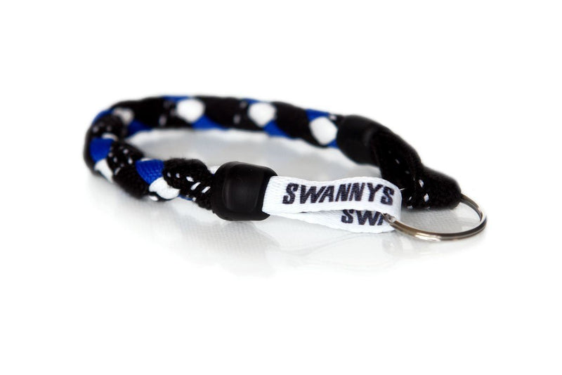 Black, Royal Blue and White Hockey Keychain - Swannys