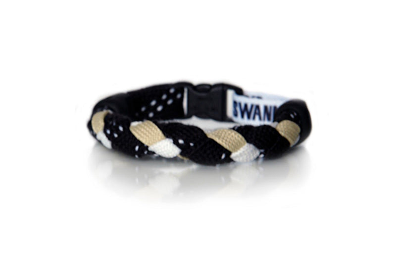Black, Vegas Gold and White Hockey Bracelet - Swannys