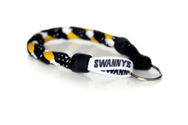 Black, Gold and White Hockey Keychain - Swannys